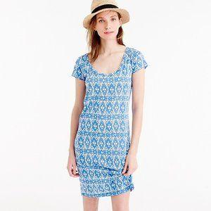 J.CREW F2368 Sunwashed Print Blue Shirt Dress S